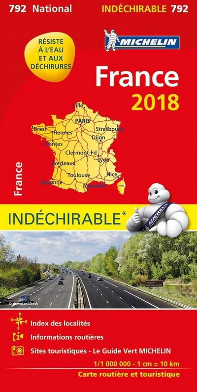 Michelin France 2018 (indéchirable) 1:1.000.000