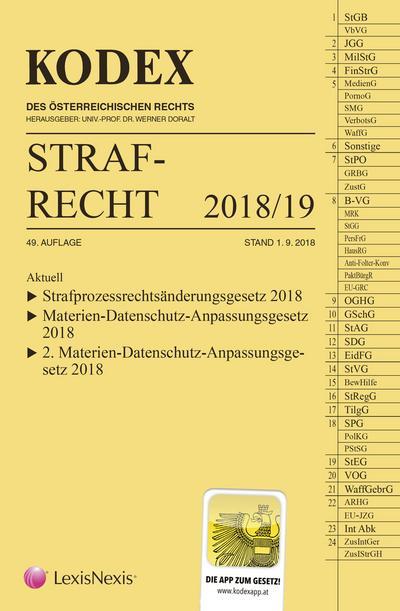 KODEX Strafrecht 2018/19