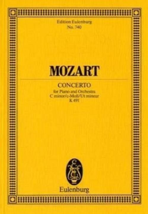 Klavierkonzert Nr.24 c-Moll KV 491, Partitur Wolfgang Amadeus Mozart