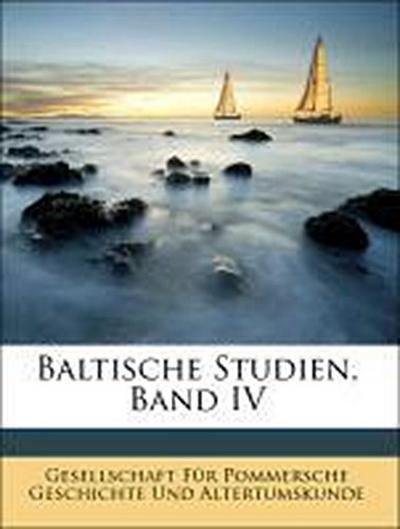 Baltische Studien, Band IV