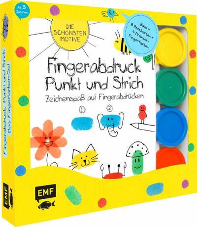 Fingerabdruck, Punkt und Strich: Zeichenspaß auf Fingerabdrücken - Das Fingerfarben-Set