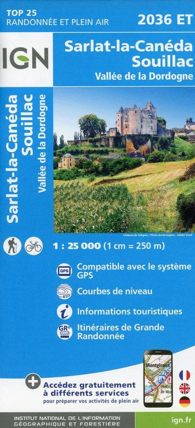 Sarlat Souillac.Vallée de la Dordogne 1:25 000