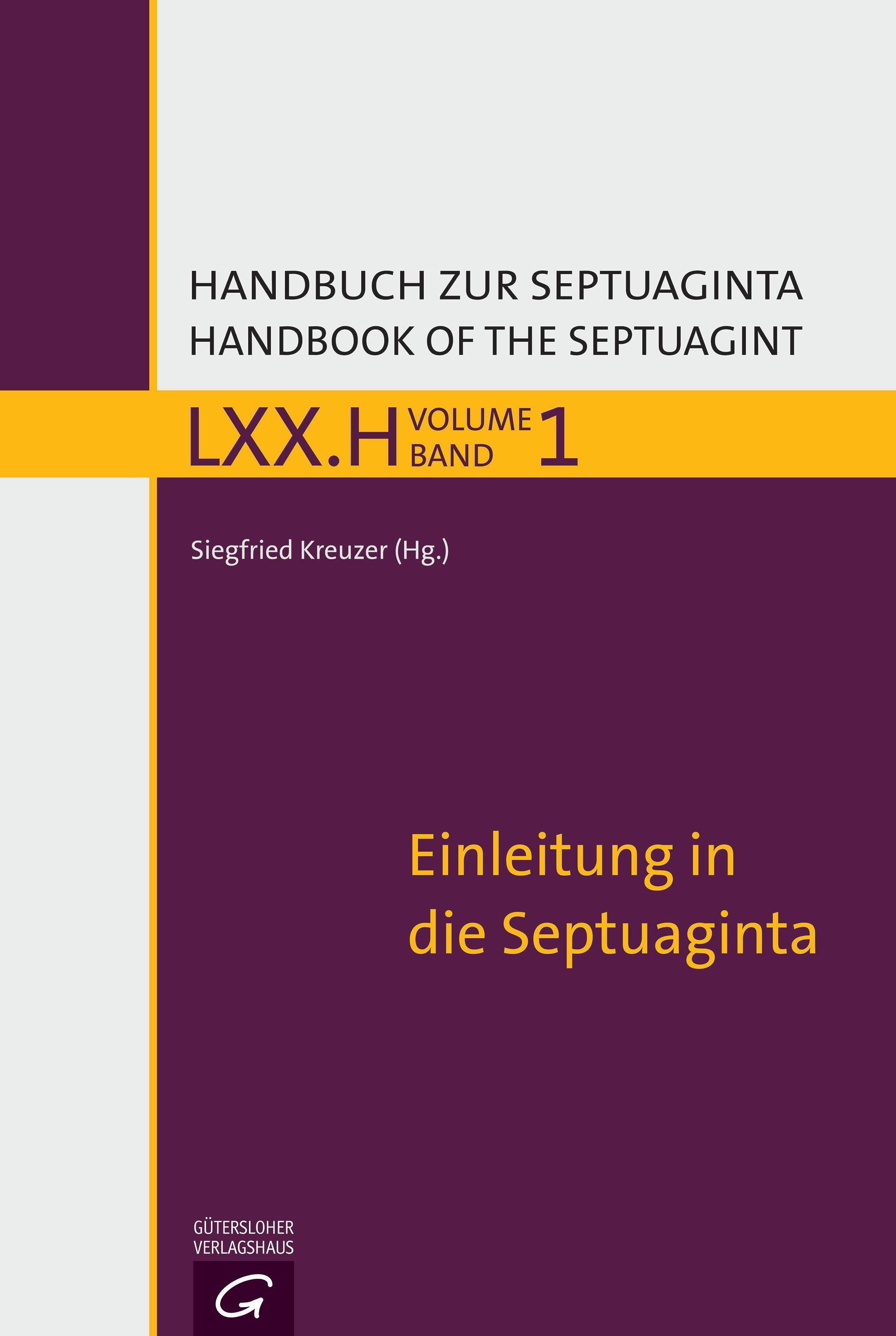 Einleitung in die Septuaginta Siegfried Kreuzer