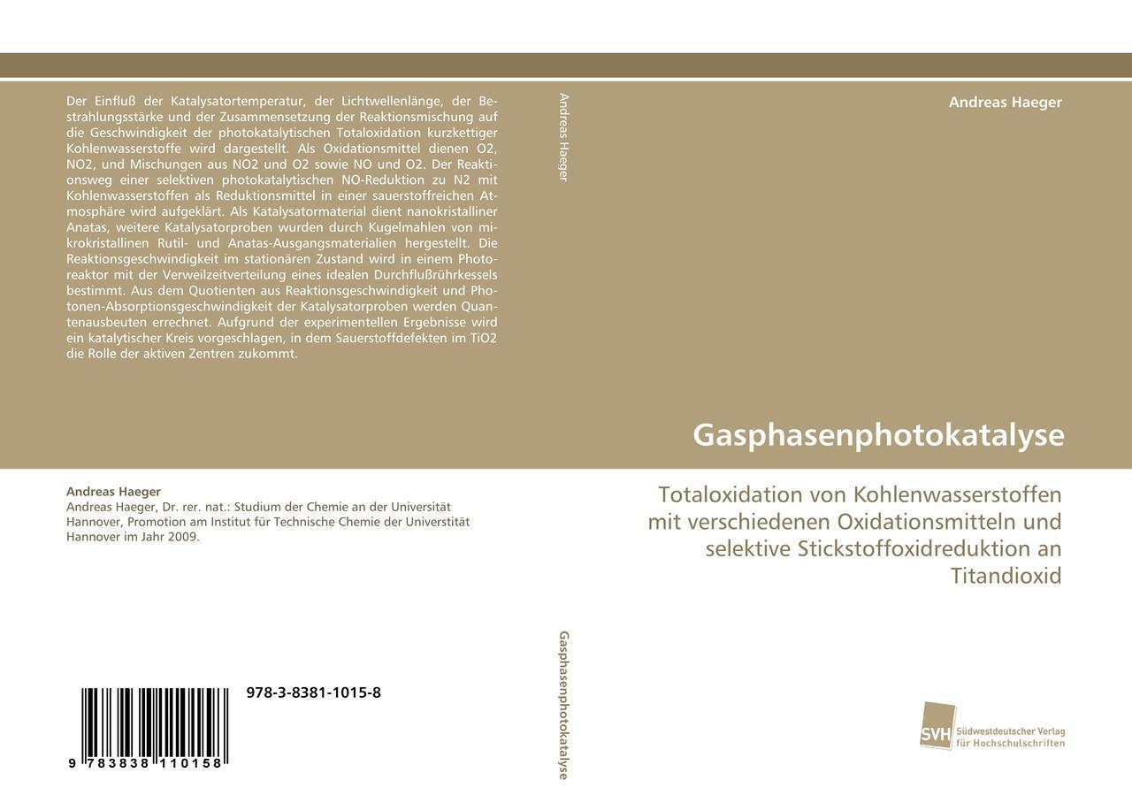 Gasphasenphotokatalyse | Andreas Haeger |  9783838110158