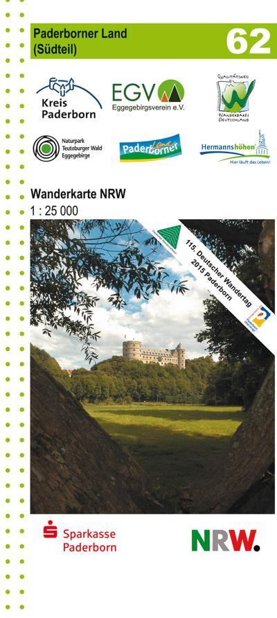 Paderborner Land Süd 1 : 25 000: Wander- und Freizeitkarte 62 (Geo Map)