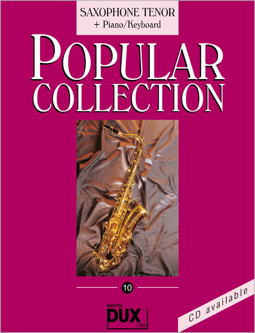 Popular Collection, Saxophone Tenor + Piano/Keyboard. Vol.10 Arturo Himmer