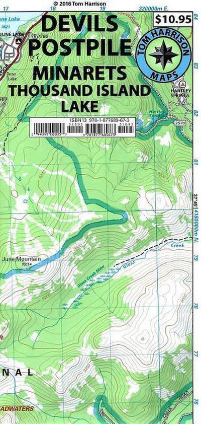 Devils Postpile Minarets Trail Map