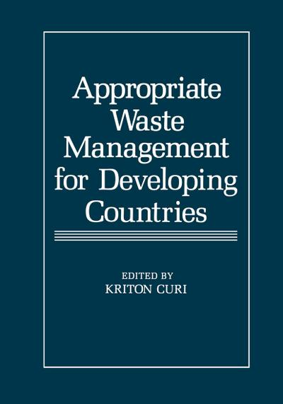 Appropriate Waste Management for Developing Countries