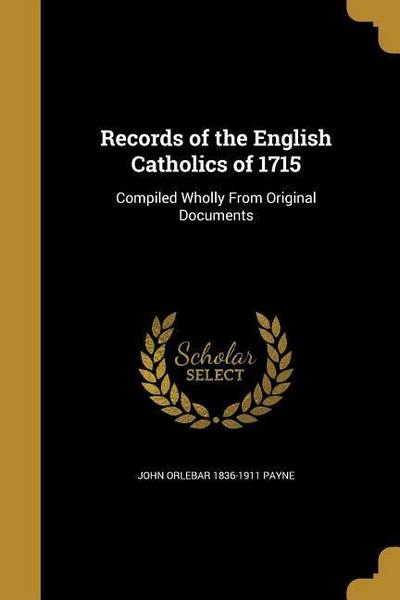 RECORDS OF THE ENGLISH CATHOLI