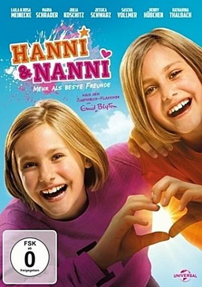 Hanni & Nanni - Mehr als beste Freunde, 1 DVD