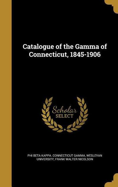CATALOGUE OF THE GAMMA OF CONN