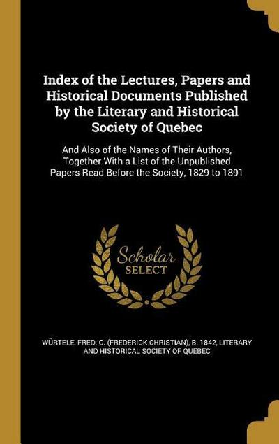 INDEX OF THE LECTURES PAPERS &