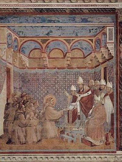 Giotto di Bondone (und Werkstatt) - Die Bestätigung der Ordensregel durch den Papst Innozenz - 200 Teile (Puzzle)