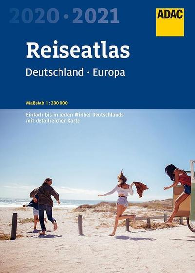 ADAC Reiseatlas Deutschland, Europa 2020/2021 1:200 000