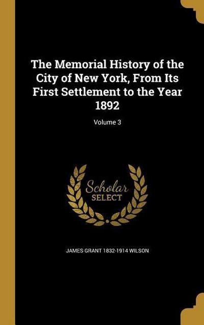 MEMORIAL HIST OF THE CITY OF N