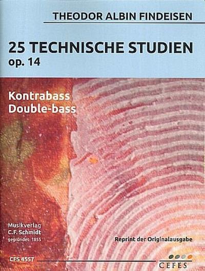 25 technische Studien op.14für Kontrabass