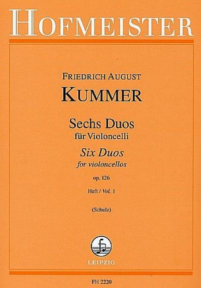 6 Duos op.126 Band 1 (Nr.1-3)für 2 Violoncelli