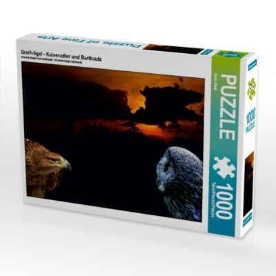 Greifvögel - Kaiseradler und Bartkautz (Puzzle)