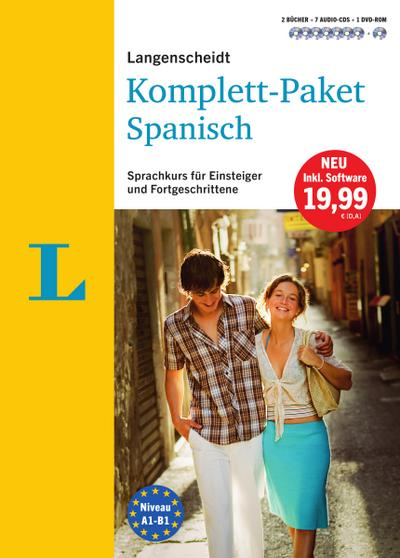Langenscheidt Komplett-Paket Spanisch - Sprachkurs mit 2 Büchern, 7 Audio-CDs, 1 DVD-ROM, MP3-Download