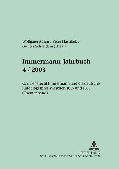 Immermann-Jahrbuch 4/2003
