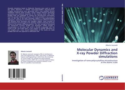 Molecular Dynamics and X-ray Powder Diffraction simulations