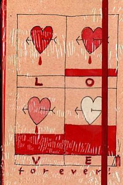 Hearts, Notizbuch, klein
