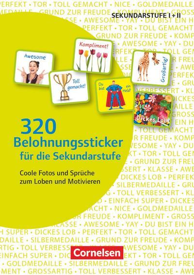 320 Belohnungssticker für die Sekundarstufe - Coole Fotos und Sprüche zum Loben und Motivieren