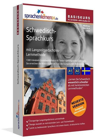 Sprachenlernen24.de Schwedisch-Basis-Sprachkurs. PC CD-ROM für Windows/Linux/Mac OS X + MP3-Audio-CD für Computer /MP3-Player /MP3-fähigen CD-Player