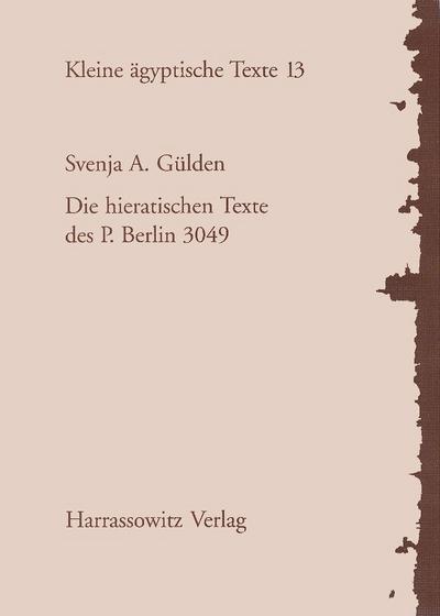 Die hieratischen Texte des P. Berlin 3049