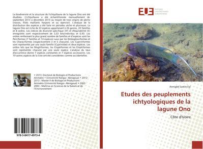 Etudes des peuplements ichtyologiques de la lagune Ono