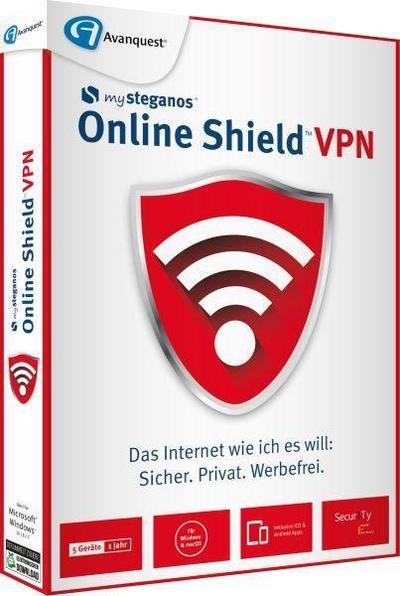 Steganos Online Shield VPN. Für Windows 8/10/MAC/Android/iOs