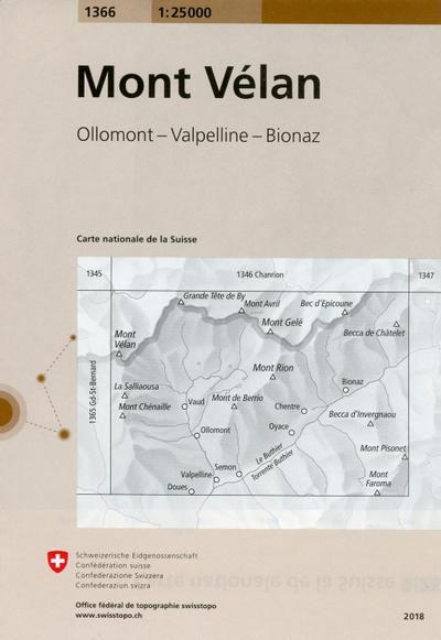 Swisstopo 1 : 25 000 Mont Vélan