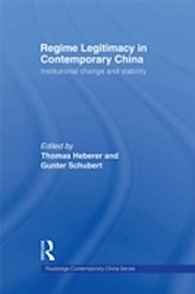 Regime Legitimacy in Contemporary China