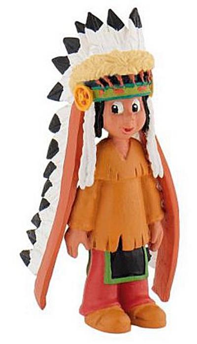 Bullyland 43356 - Spielfigur, Yakari mit Federschmuck, ca. 6 cm - BULLYLAND - Spielzeug, Deutsch, , ,