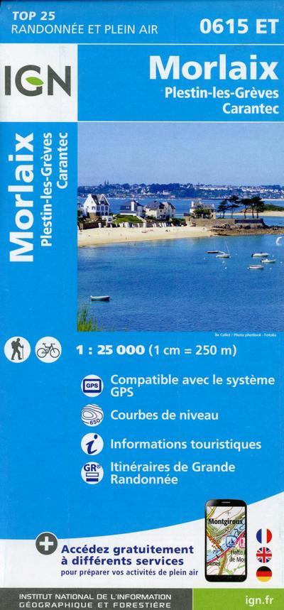 Morlaix - Plestin-les-Grèves - Carantec 1:25 000