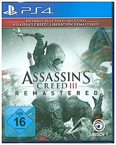 Assassin's Creed 3, Remastered, 1 PS4-Blu-ray Disc