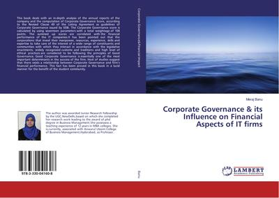 Corporate Governance & its Influence on Financial Aspects of IT firms