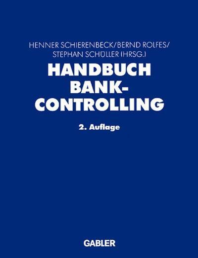 Handbuch Bankcontrolling