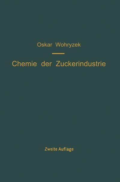 Chemie der Zuckerindustrie