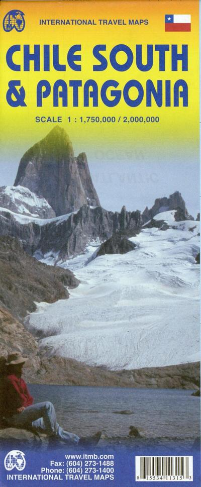 Chile South and Patagonia 1:750.000 / 1:25 Mio.