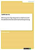 Prüfung des Eigenkapitals im Rahmen der Handelsrechtlichen Jahresabschlussprüfung - Judith Gerritz