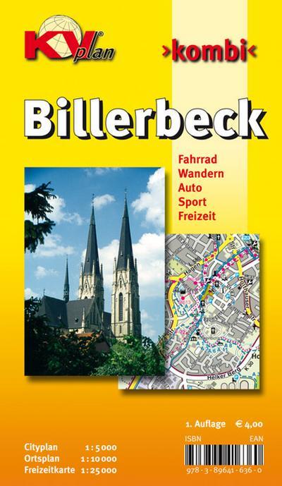 Billerbeck: 1:10.000 Stadtplan mit Freizeitkarte 1:25.000 inkl. Wanderwegen und Radrouten, Citykarte 1:5.000 (KVplan Münsterland-Region)