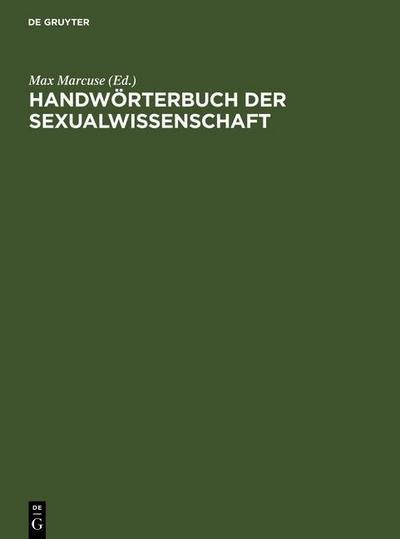 Handwörterbuch der Sexualwissenschaft