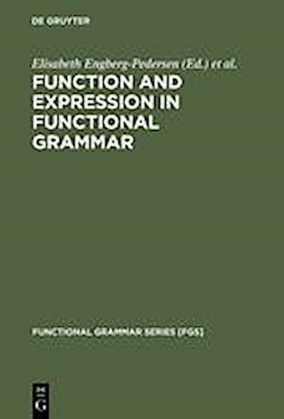 Function and Expression in Functional Grammar