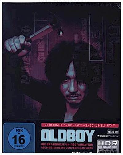 Oldboy 4K, 1 UHD-Blu-ray + 2 Blu-ray (Limited SteelBook)