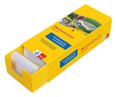 Découvertes. Série jaune (ab Klasse 6). Ausgabe ab 2012 - Karteikarten-Box zum Schülerbuch. Bd.3
