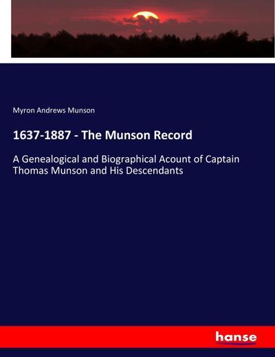 1637-1887 - The Munson Record