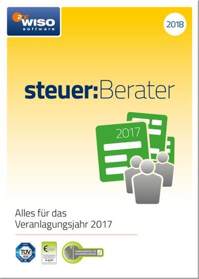 WISO steuer:Berater 2018 (für Steuerjahr 2017) - Buhl Data - CD-ROM, Deutsch, Buhl Data Service GmbH, Alles für den Veranlagungszeitraum 2017. Windows, Alles für den Veranlagungszeitraum 2017. Windows