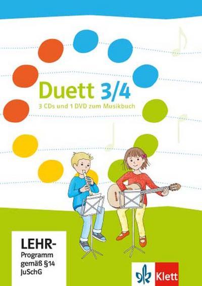 Duett. 3 Audio-CDs und DVD 3./4. Schuljahr. Ausgabe ab 2017