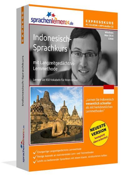 Sprachenlernen24.de Indonesisch-Express-Sprachkurs PC CD-ROM für Windows/Linux/Mac OS X + MP3-Audio-CD: Werden Sie in wenigen Tagen fit für Ihre Reise nach Indonesien - Sprachenlernen24 - CD-ROM, Deutsch, Sprachenlernen24, Indonesisch-Sprachkurs mit Langzeitgedächtnis-Lernmethode, Indonesisch-Sprachkurs mit Langzeitgedächtnis-Lernmethode